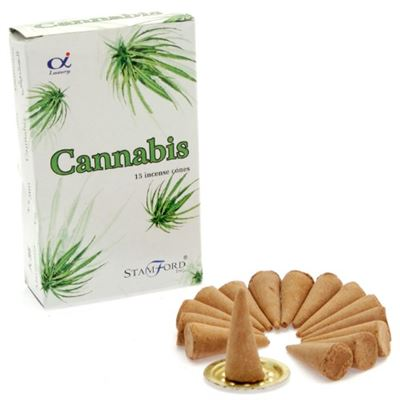Cannabis Incense Cones Stamford 15's Box