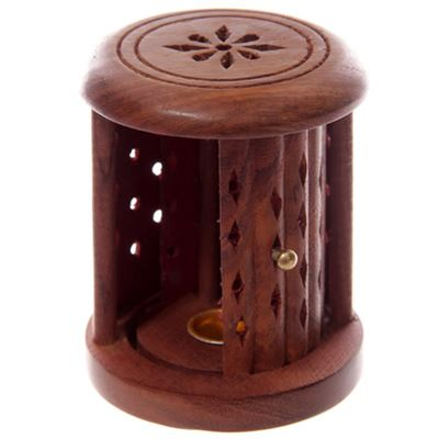 Incense Cone Wooden Barrel with Door