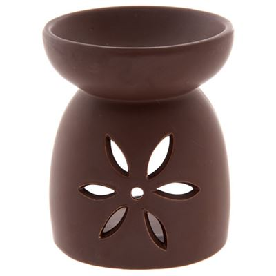 Brown Flower Oil Burner Extra Large