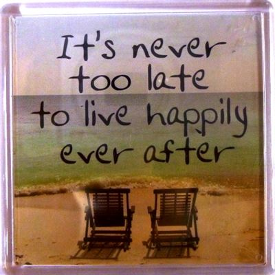It's never too late to live happily ever after Fridge Magnet 183