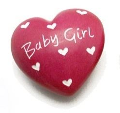 Baby Girl Pink Soapstone Heart