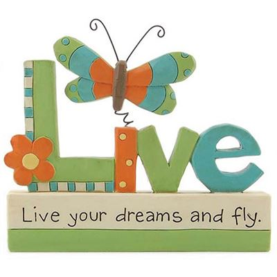 Live Your Dreams Butterfly Block
