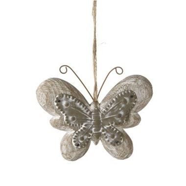 Butterfly Hanger Zinc & Wood