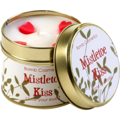 Mistletoe Kiss Candle in a Tin