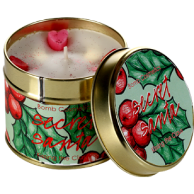 Secret Santa Candle in a Tin