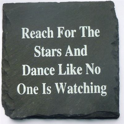 Reach For The Stars Slate Coaster
