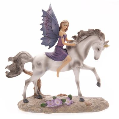 Amethyst Fairy on Unicorn
