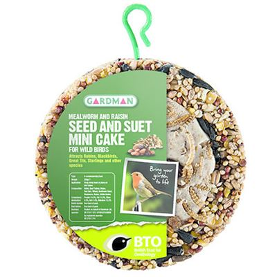 Mealworm & Resin Mini Cake Feeder for Wild Birds with Hook