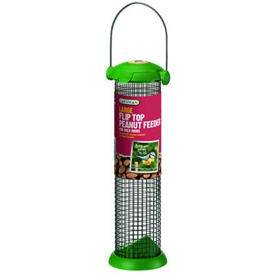 Flip Top Peanut Feeder Large Hanging for Wild Birds
