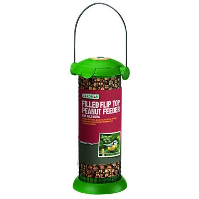 Filled Flip Top Peanut Feeder Hanging for Wild Birds