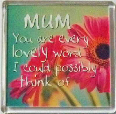 MUM You are every lovely word... Fridge Magnet 008