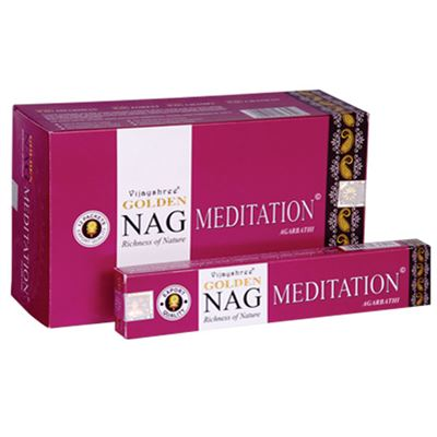 Meditation Nag Golden Incense Sticks 15g Box