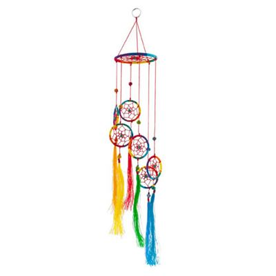 Multi-coloured Rainbow Dream Catcher with Tassel
