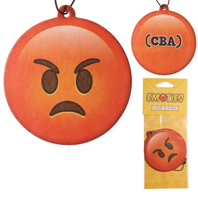 Angry Emoji Car Air Freshener Raspberry