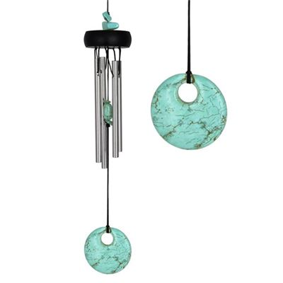 Turquoise Precious Stone Wind Chime from Woodstock