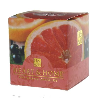 Pink Grapefruit & Cassis Heart & Home Votive Candle
