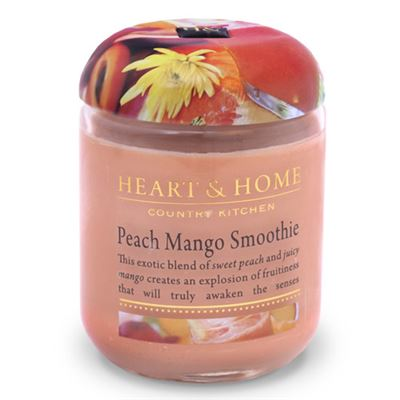 Peach Mango Smoothie Candle in Jar 30 hours