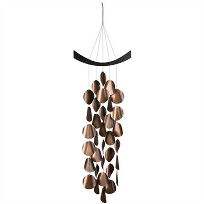 Deep Bronze Moonlight Waves Wind Chime from Woodstock