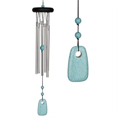Turquoise Chakra Wind Chime Large From Woodstock