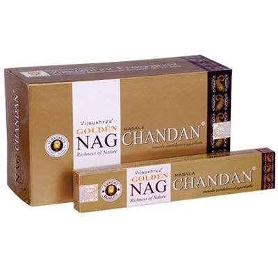 Chandan Golden Nag Champa Incense Sticks 15g Box