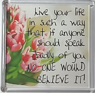 Live your life in such a way that is anyone should… Fridge Magnet 201