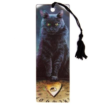 Black Cat & Ouija Board 3D Bookmark by Lisa Parker