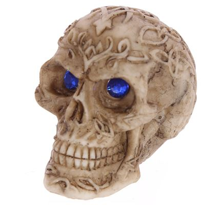 Skull with Blue Gem Eyes