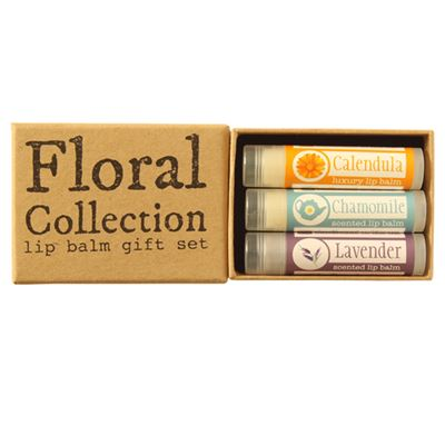 Floral Collection Natural Lip Balm Gift Set