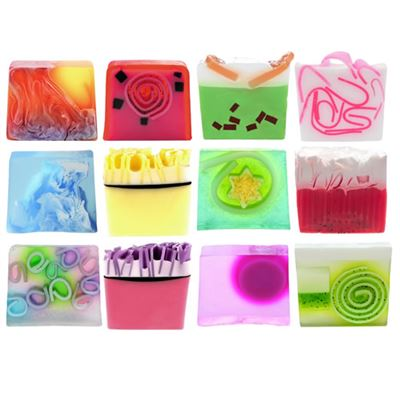 Colorful Sliced Soap Gift Set Of TWELVE