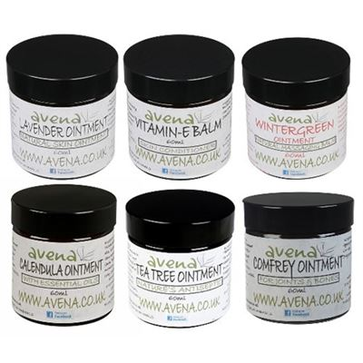 Set of SIX Natural Ointments