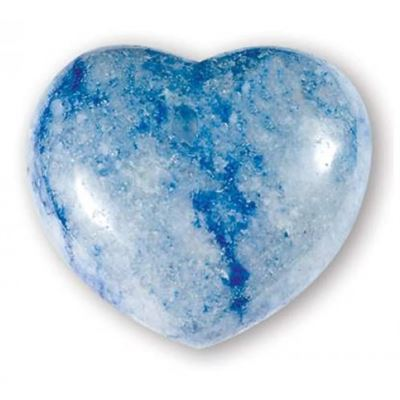 Blue Quartz Heart Large
