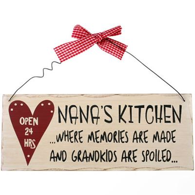 Nana's Kitchen Where Memories Are Made… Shabby Plaque