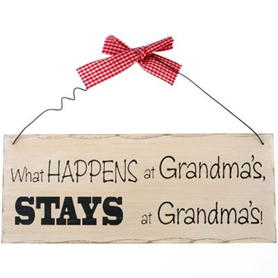 What Happens At Grandma's… Shabby Plaque