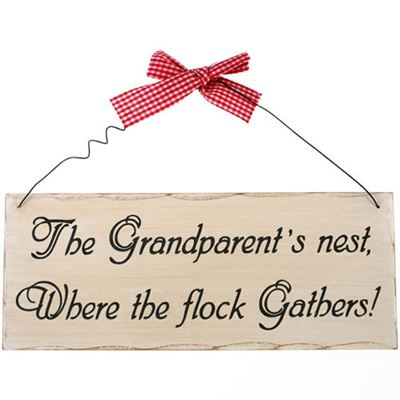 The Grandparent's Nest… Shabby Plaque