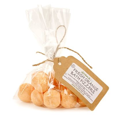 Fresh Orange Bath Fizzers Gift Bag of 10