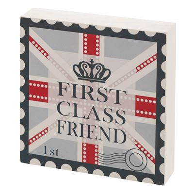 First Class Friend Gift Block