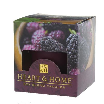 Mulberry Heart & Home Votive Candle