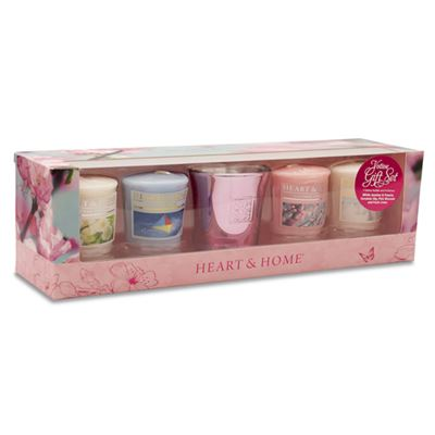 Candle Gift Set 4 Votives & Holder