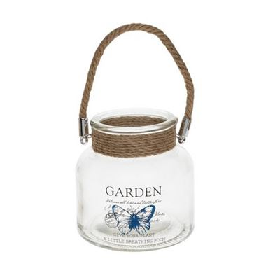 Garden Jar & Candle Holder Butterfly