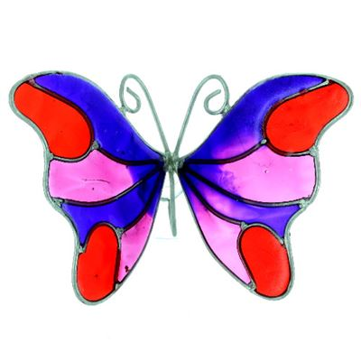 Butterfly Suncatcher with Window Sucker Purple, Pink, Red
