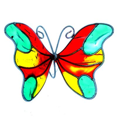 Butterfly Suncatcher with Window Sucker Red, Yellow, Green