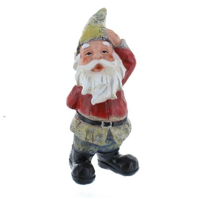 Garden Gnome Large Quizzical Look & Red Top
