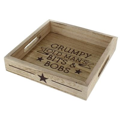 Grumpy Old Man's Tray Wooden