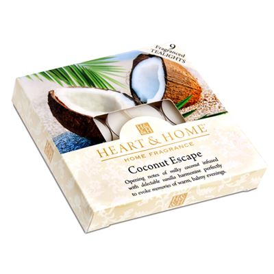 Coconut Escape Box of Tea Light Candles